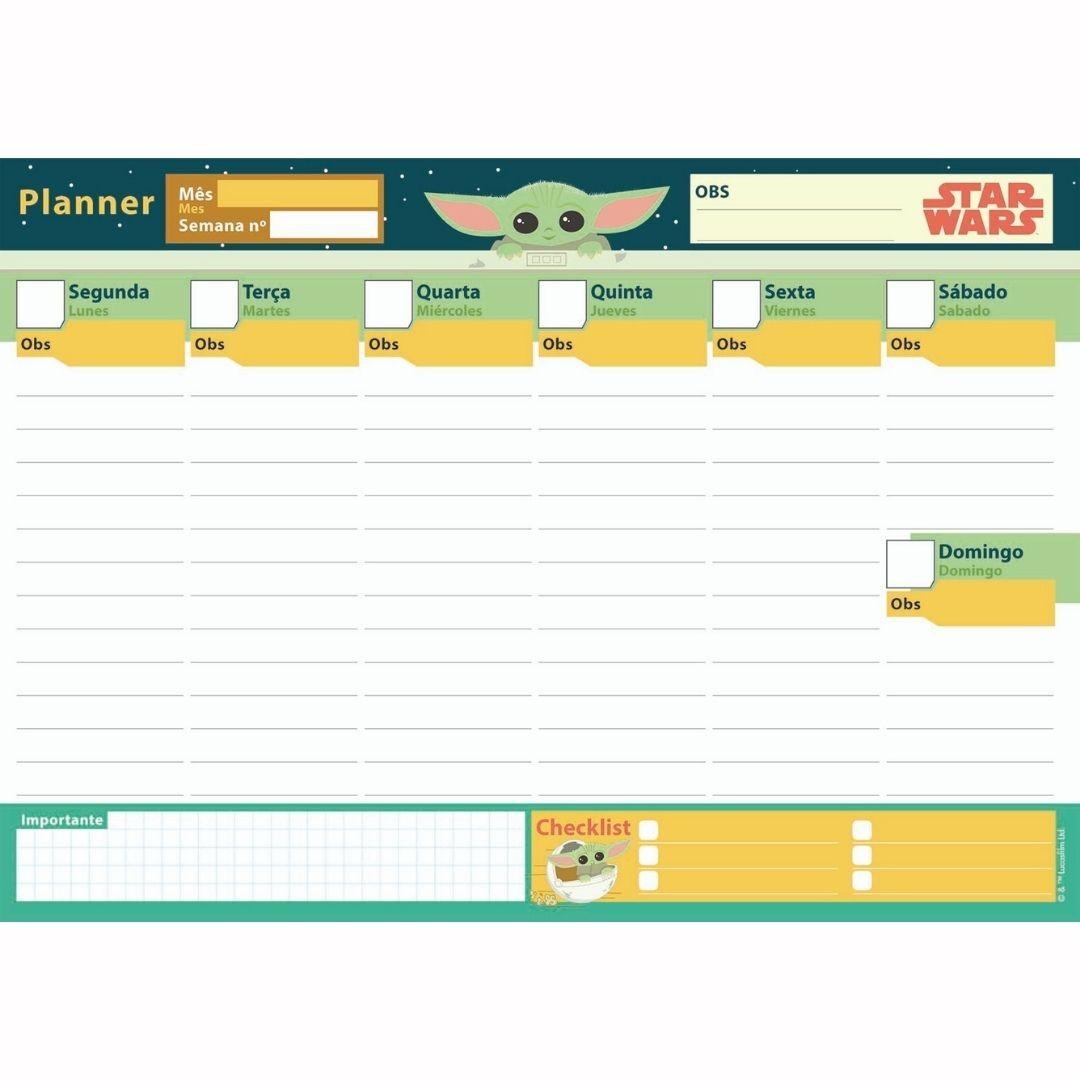 Planner Baby Yoda - Star Wars | Jandaia