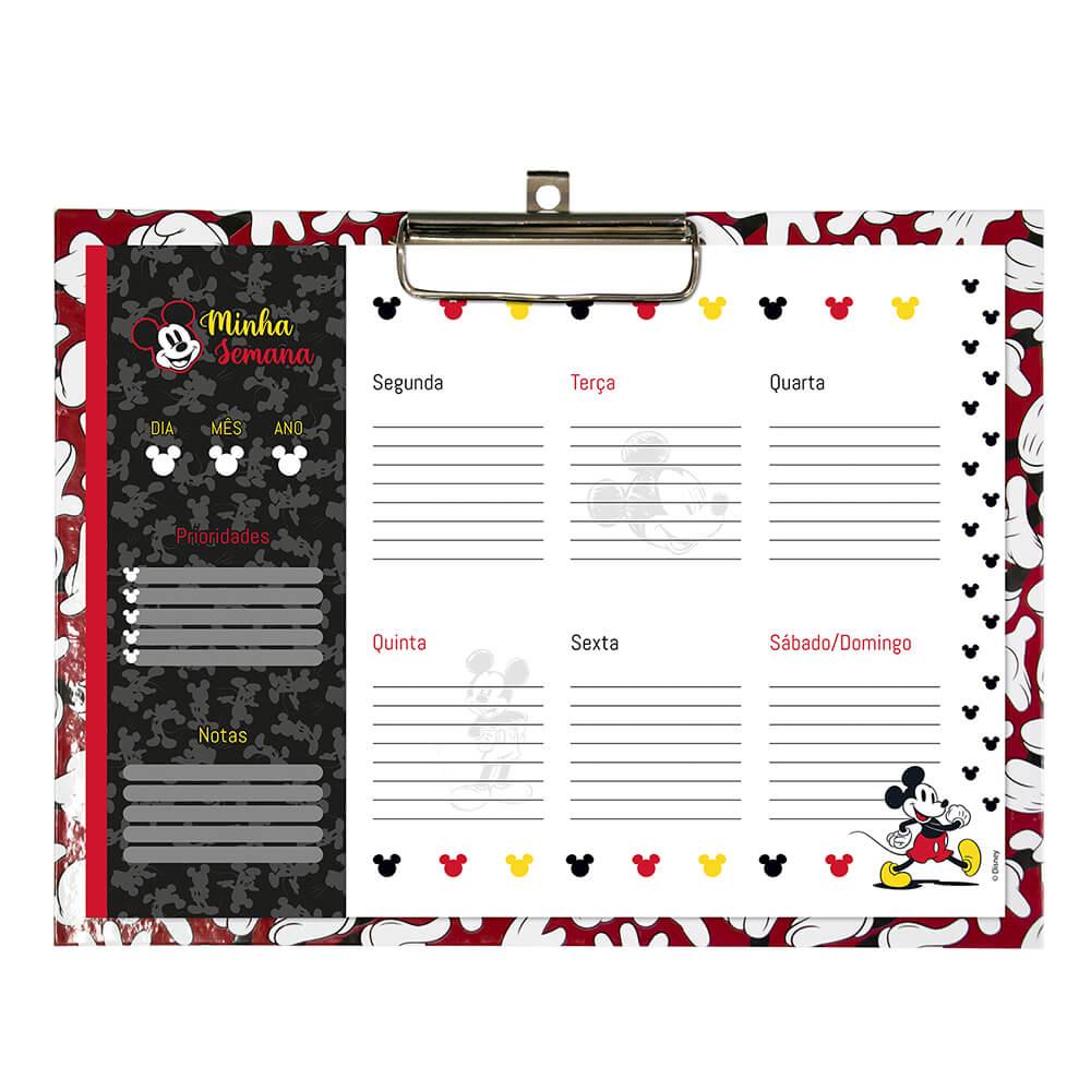 Planner com Prancheta Semanal Mickey Com 12 folhas | DAC
