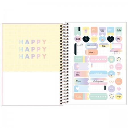 Planner Espiral Happy Rosa 2021 | Tilibra