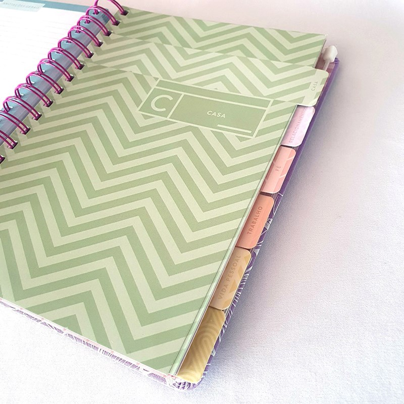 Planner Meu Plano Perfeito lilás capa tecido   Thomas Nelson