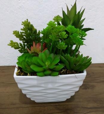 Plantinha Suculenta Artificial para Mini Vaso - Rosa de Suculenta | Importado
