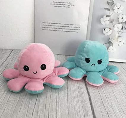 Polvo Polvinho De Pelúcia Humor Feliz e Triste Brinquedo Fidget Toy Anti stress   Importado