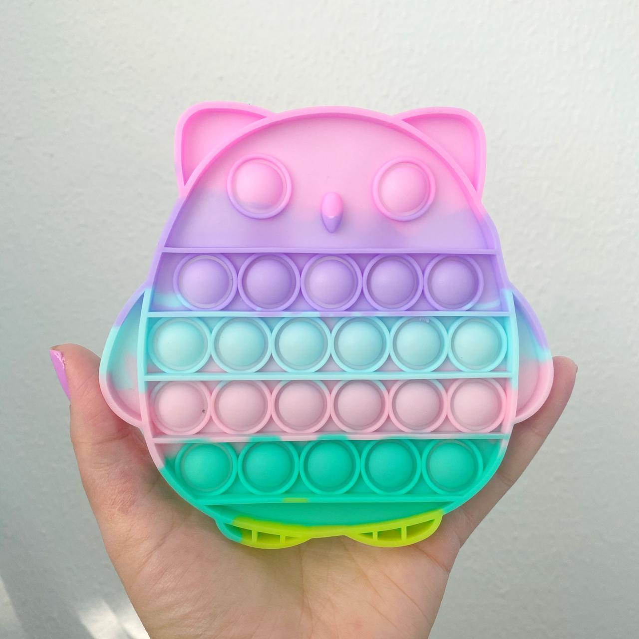 Pop Popit de Silicone Fidget Toy Brinquedo Anti stress Relaxante Cor Tom Pastel  Importado