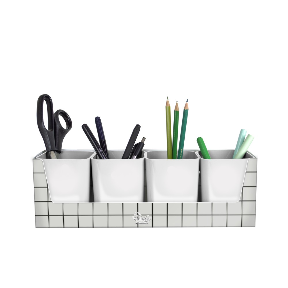 Porta Lápis Porta objeto Minimal com suporte para 4 porta objetos   Dello
