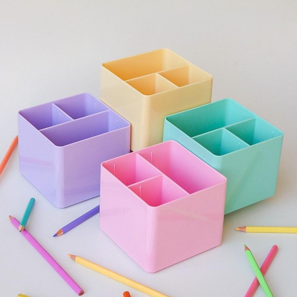 Porta Lápis Porta Objeto com 3 Divisórias | Dello