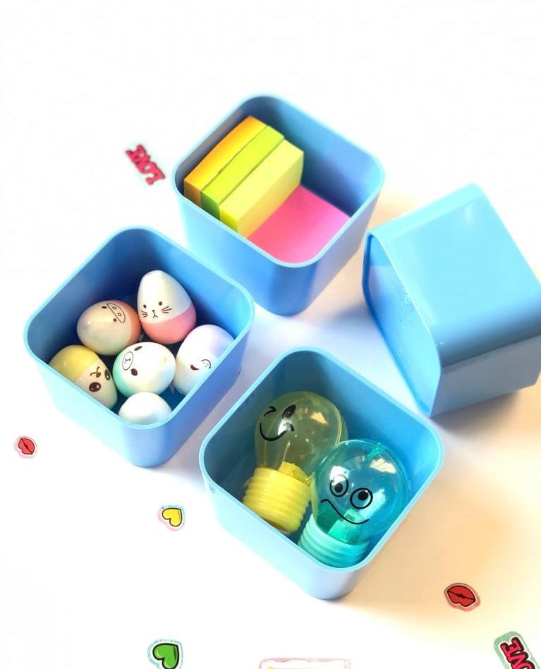Porta Objetos Pequeno Kit com 4 Peças   Dello
