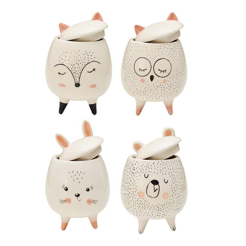 Pote Porcelana Cute Animal Pintinhas Coruja | Bras Continental