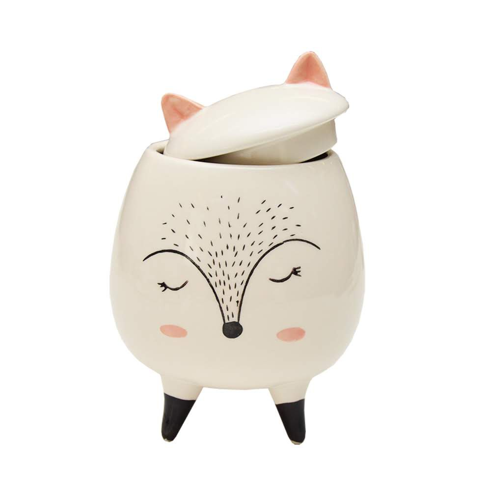 Pote Porcelana Cute Animal Pintinhas Raposa | Bras Continental