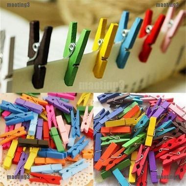 Prendedor Mini Colors De Madeira Kit Com 50 Pecas | Importado