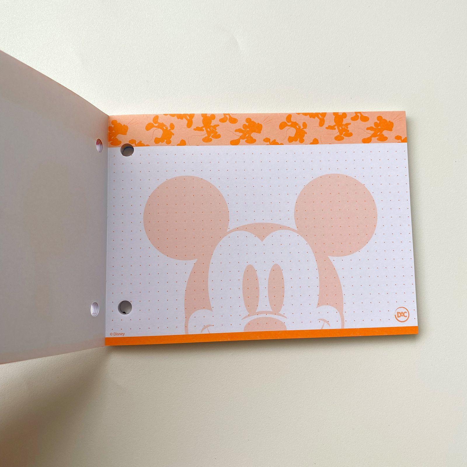 Refil de Fichas Mickey para mini Fichário 80 Folhas Coloridas 155x115mm Flashcards | DAC