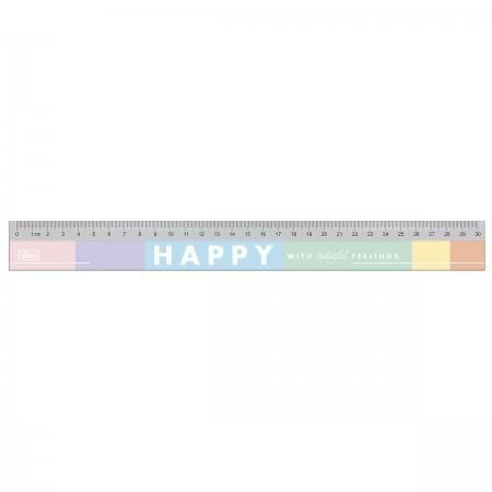 Régua em Poliestireno 30cm Happy | Tilibra
