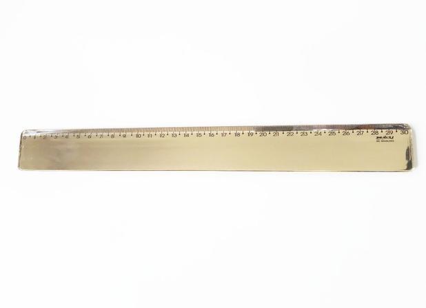 Regua Escolar 30cm New Line Ouro | Waleu