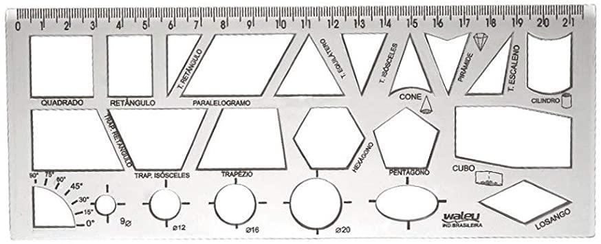 Régua Geométrica Cristal | Waleu