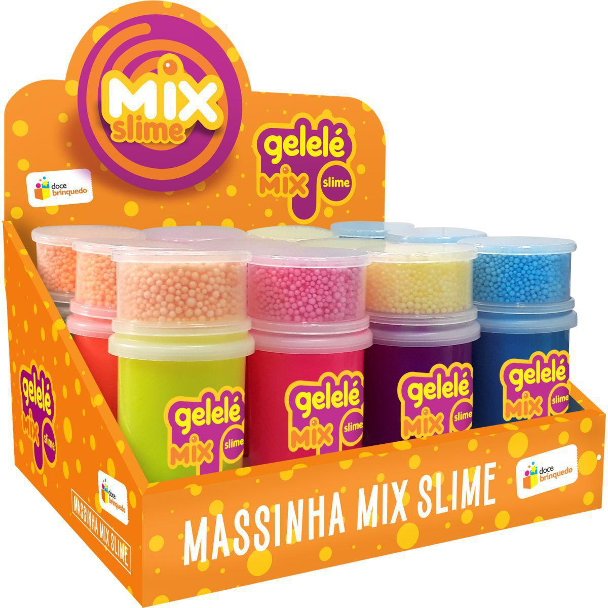 Slime Mix Surpresa Cores Neon 152gr Cores Variadas | Gelelé