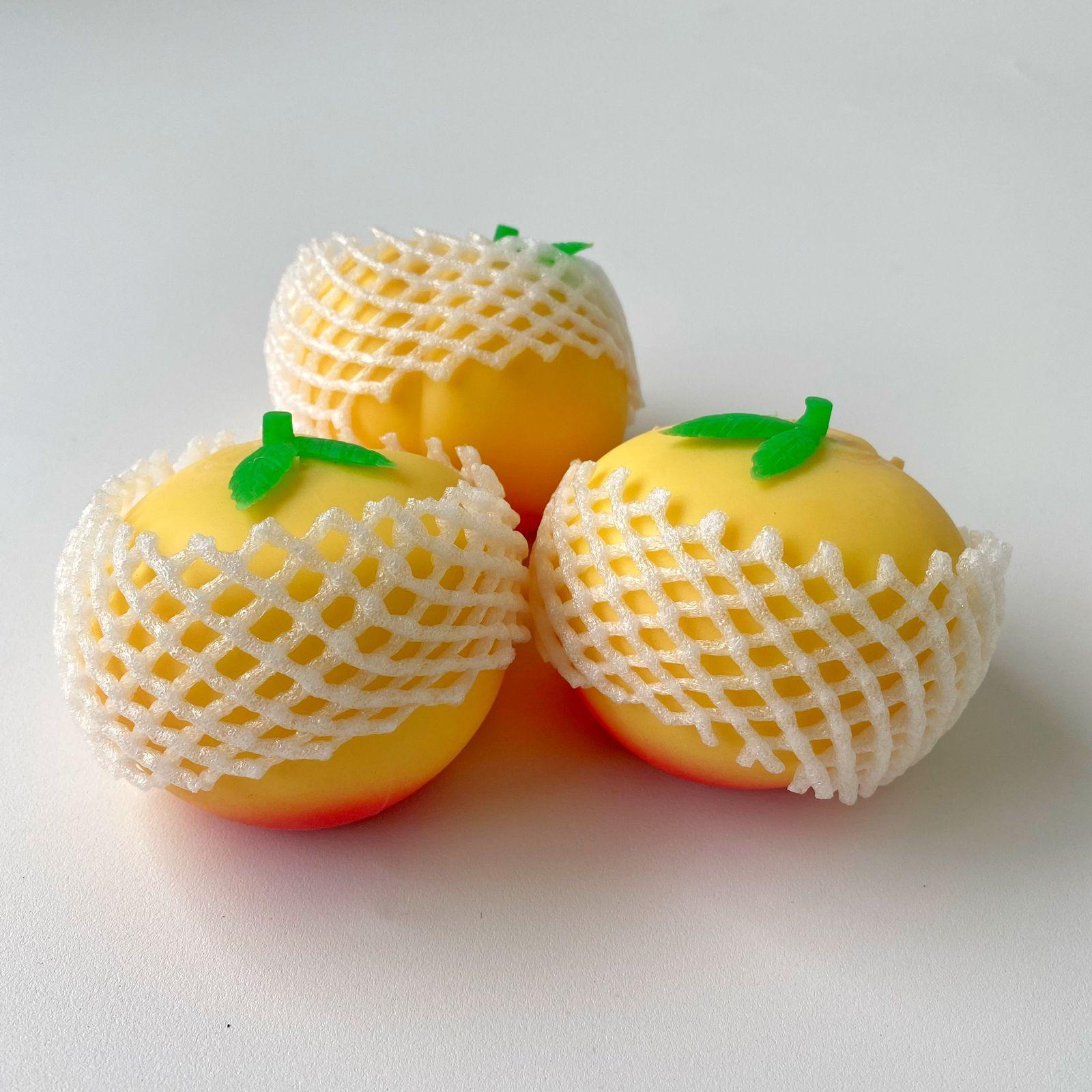 Pêssego Splashball Squishy Fidget Toy Brinquedo Anti Stress   Importados