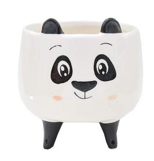 Vaso Cachepot Grande Panda Narizinho 12X10X10cm  Bras Continental