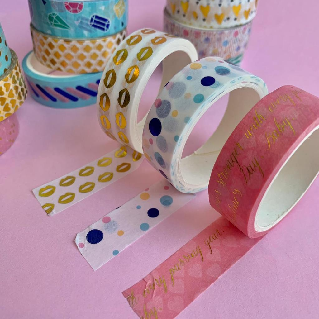 Fita Adesiva Decorativa Washi Tape Love com 3 | Molin