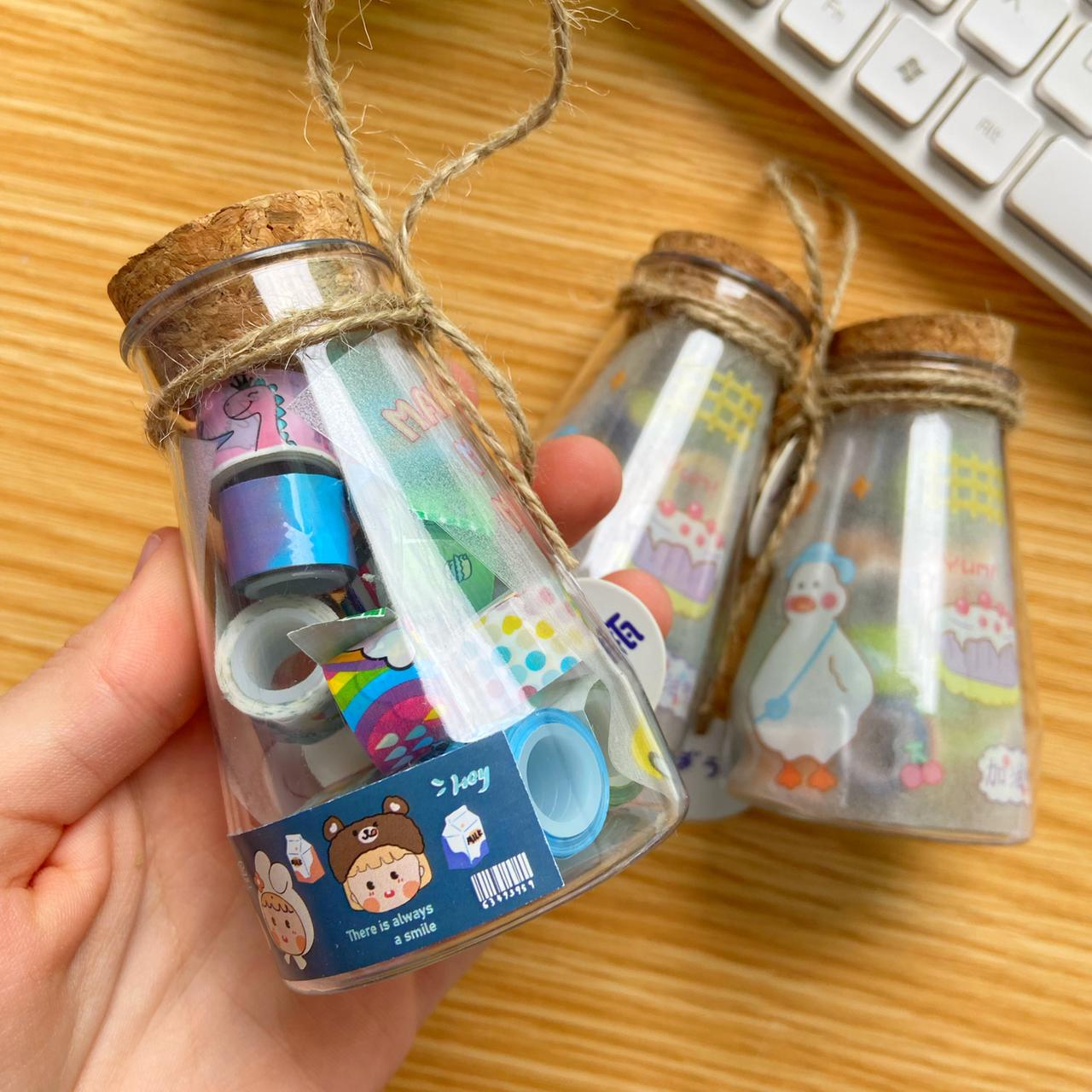 Washi Tape Mini Com Garrafinha   Importado