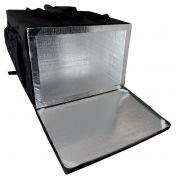 abf1b717b Bolsa Mochila Pizza Térmica Entrega Revestida Aluminio 40cm (para caixas de  pizza que tenha até
