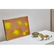 Quadro Decorativo Abstrato - Bronze