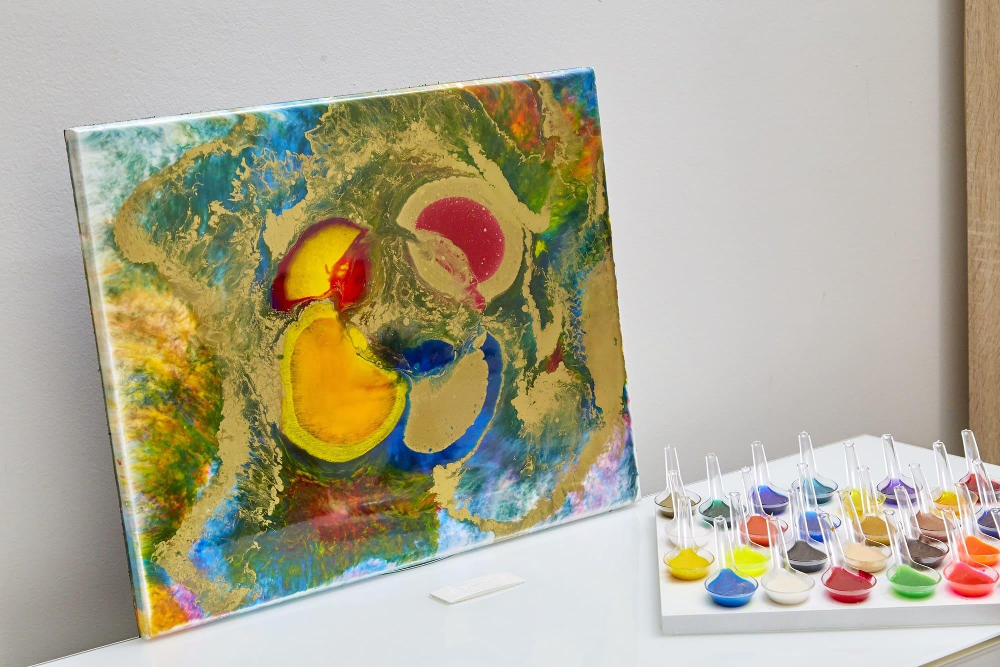 Quadro Decorativo Abstrato - 4 Estações