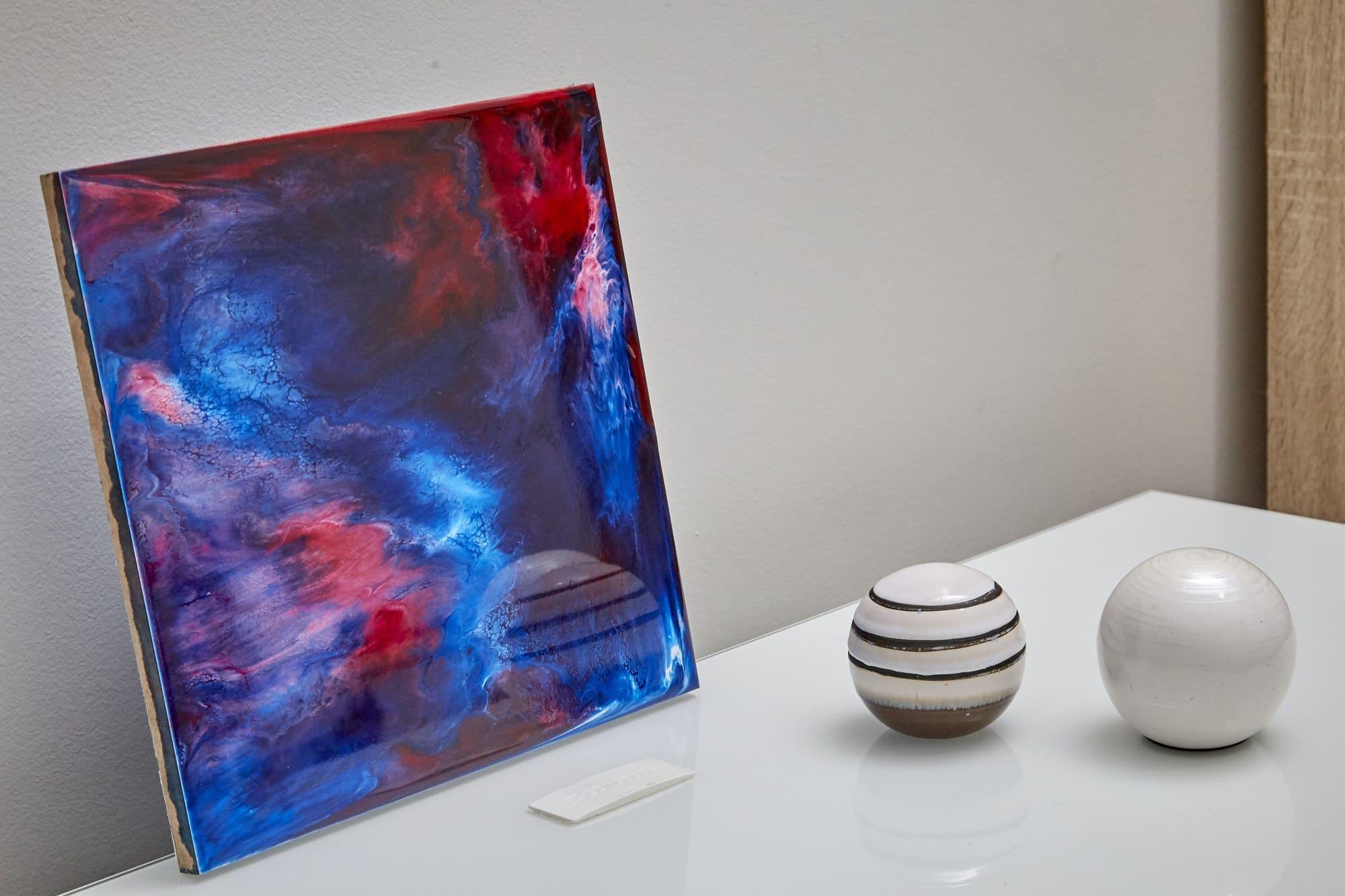 Quadro Decorativo Abstrato - Luzes Nórdicas