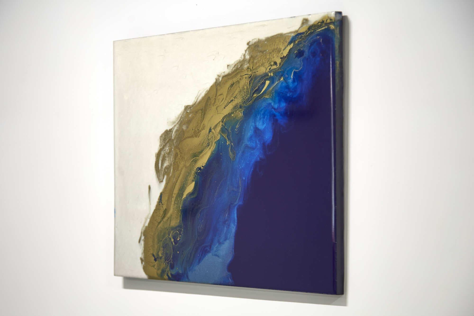 Quadro Decorativo Abstrato Mar Azul