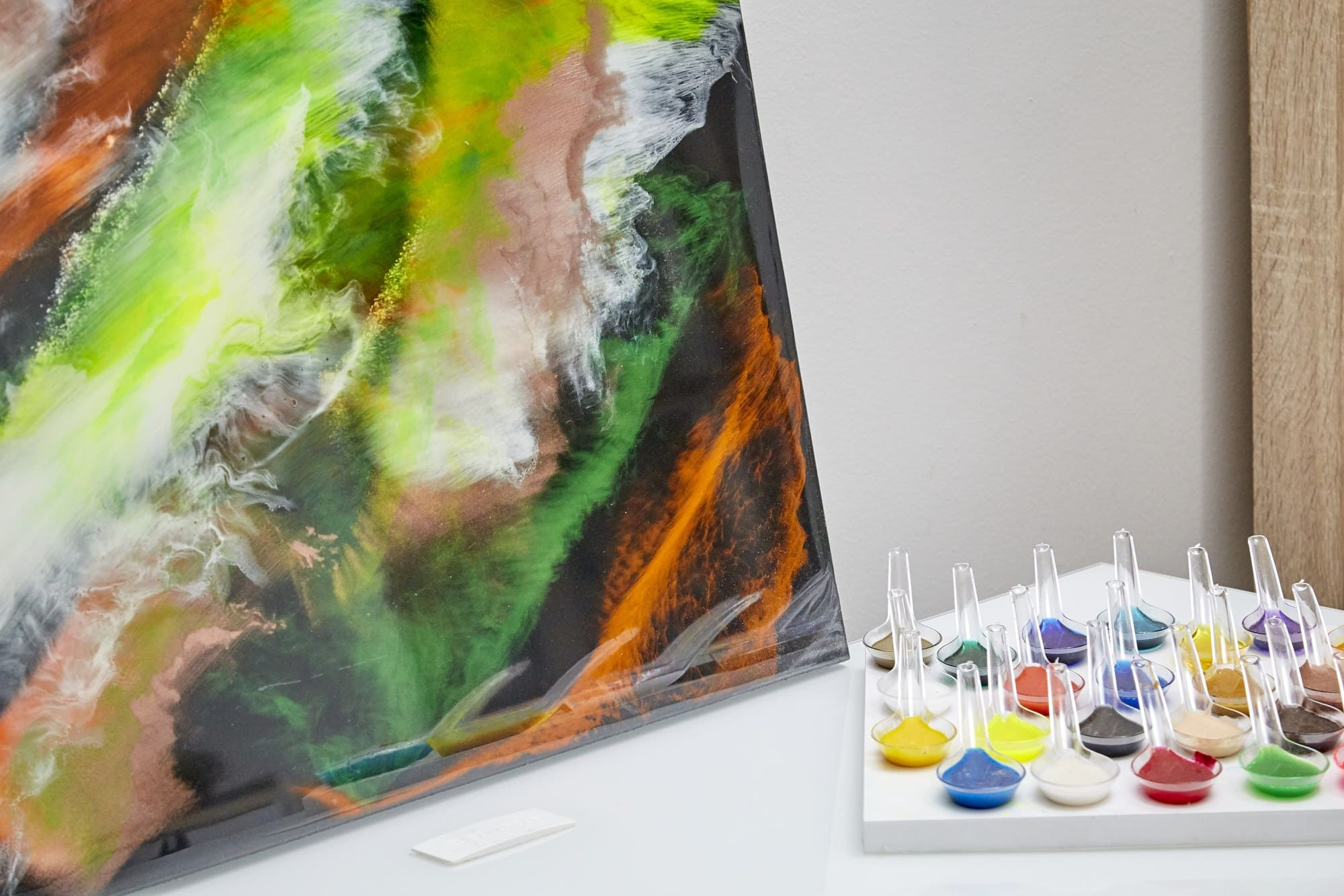 Quadro Decorativo Abstrato Penas