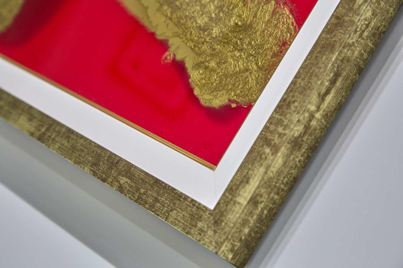 Quadro Decorativo Abstrato Guerreiro Dourado