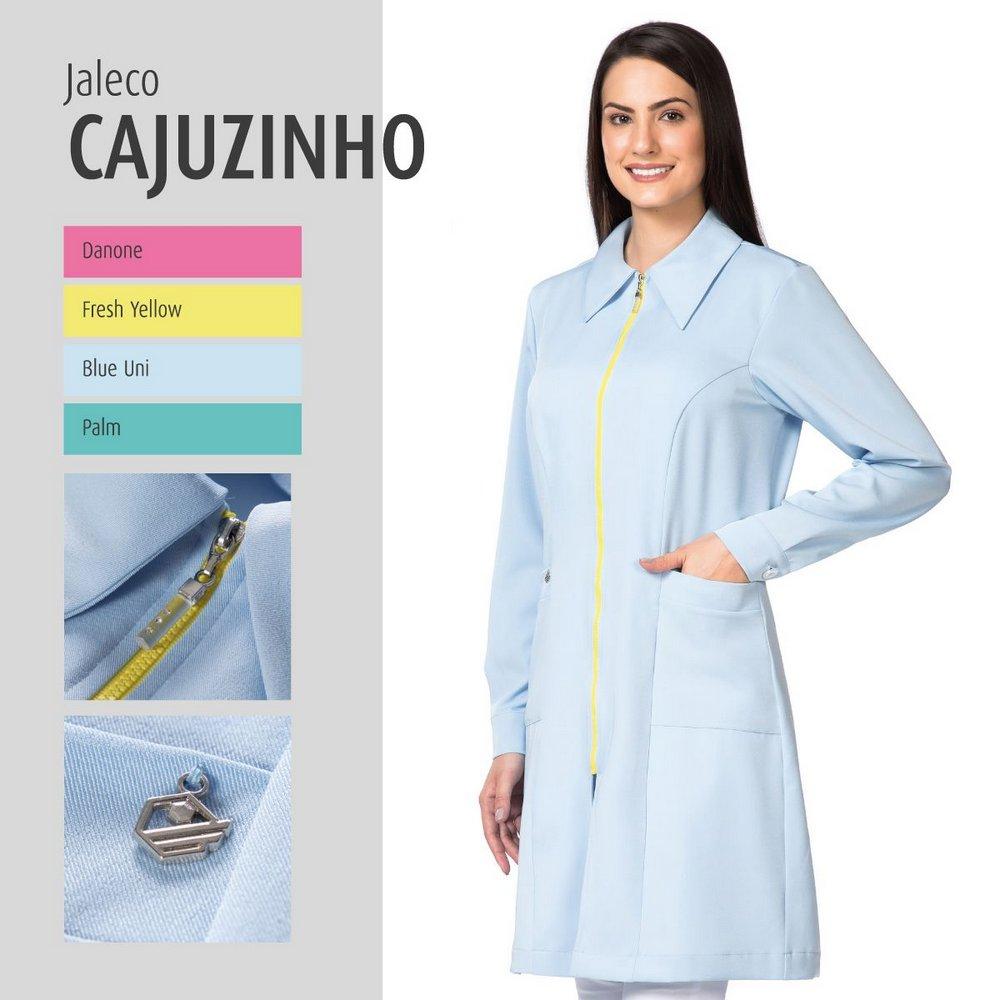 Jaleco Cajuzinho - Feminino em Garbadine com Elastano