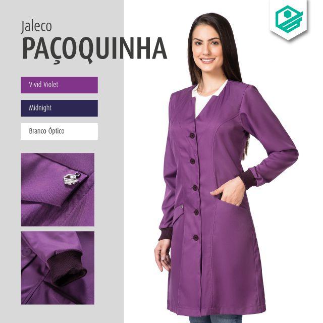 Jaleco Odontológico Paçoquinha - Feminino em Garbadine