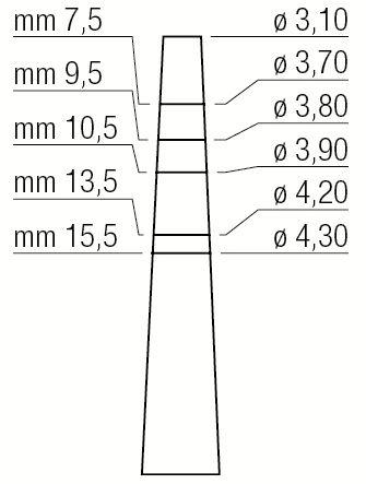Osteótomo Expansor - 3,1 Mm / 4,3 Mm - 1300/4 - Medesy