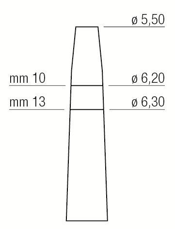 Osteótomo Expansor - 5,5 Mm / 6,3 Mm - 1300/6 - Medesy