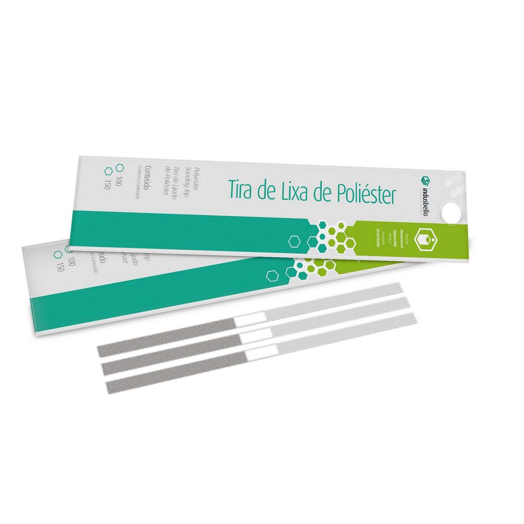 Tira De Lixa De Poliéster Para Odontologia 150 un