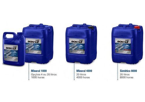 Oleo Mineral 1000 horas Compressor Parafuso Schulz - 4 Litros