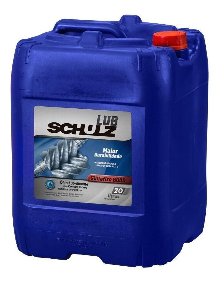 Oleo Sintetico 8000 horas Compressor Parafuso Schulz - 20 Litros
