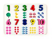 Brinquedo Educativo Pedagógico Numeral Ilustrado em MDF