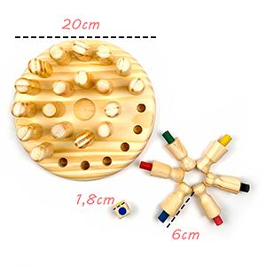 Jogo Memória das Cores, Xadrez para Crianças  - Elefante Colorido Brinquedos Educativos