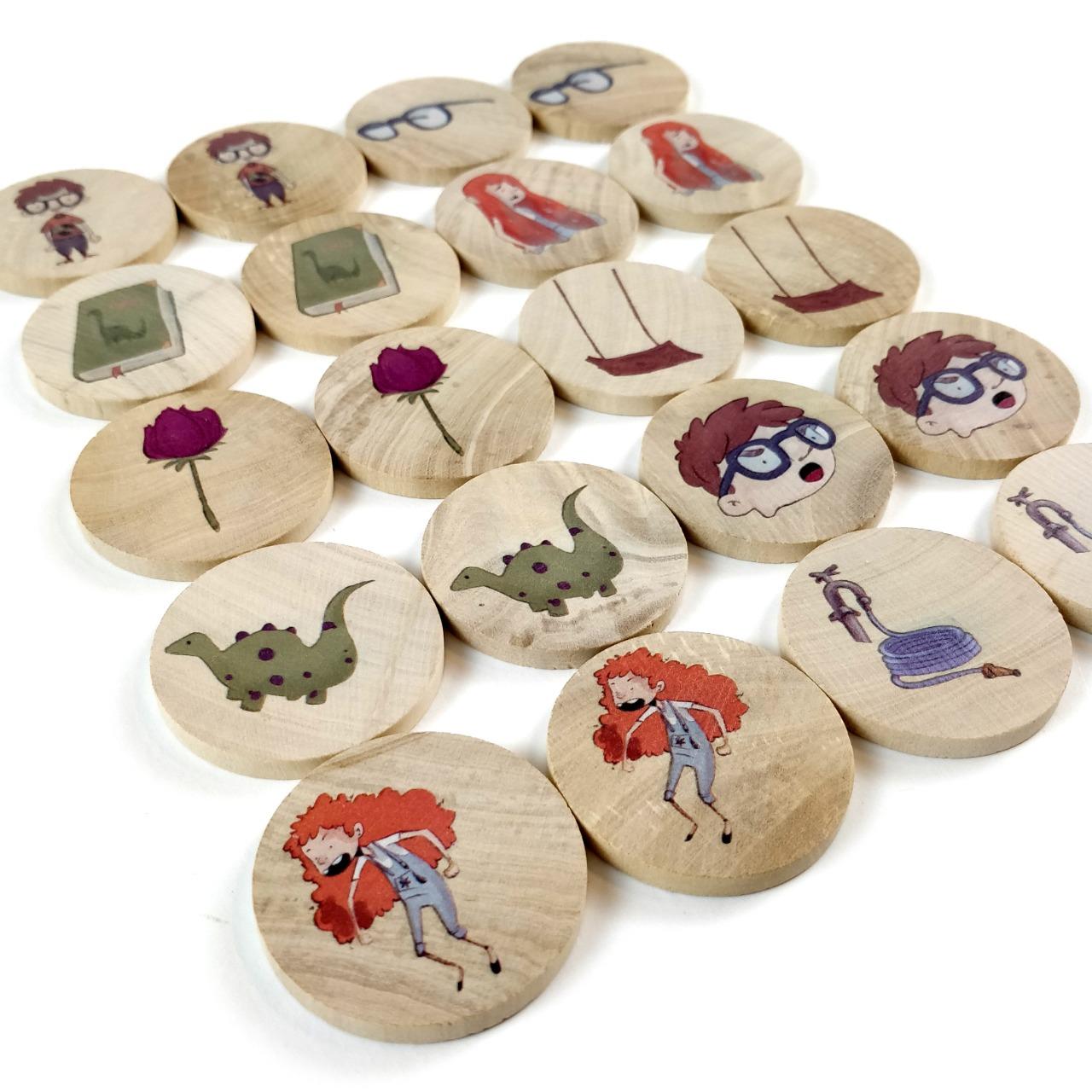 KIT 1 livro O Menino que se escondia + JOGO da memória  - Elefante Colorido Brinquedos Educativos