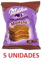 Alfajor Milka Mousse 3x contendo 5 unidades de 55g cada