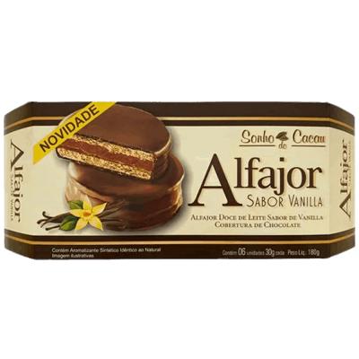 Alfajor Vanilla Sonho do Cacau 180g - 6 unidades
