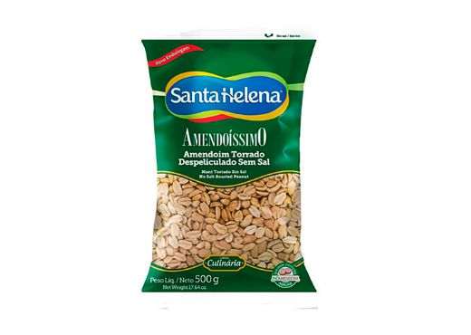 Amendoim sem Pele Torrado sem Sal Santa Helena 500g