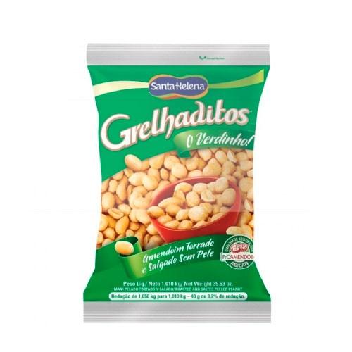 Amendoim Torrado e Salgado Sem Pele Grelhaditos Santa Helena 1,01kg