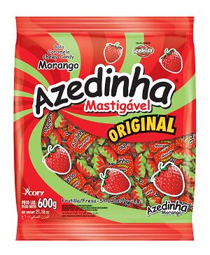 Bala Azedinha Mastigável Morango IceKiss 600g