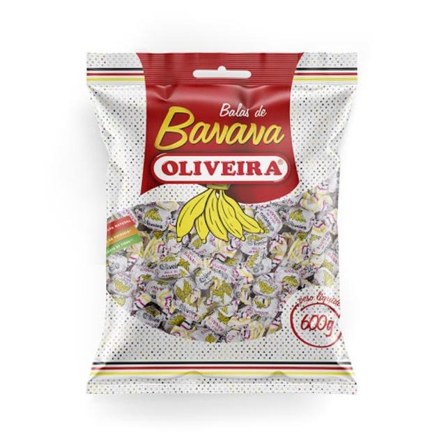 Bala de Banana Oliveira 600g Oliveira