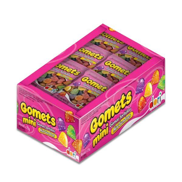 Bala de Goma Gomets Sino Dori contendo 30 pacotes de 18g cada