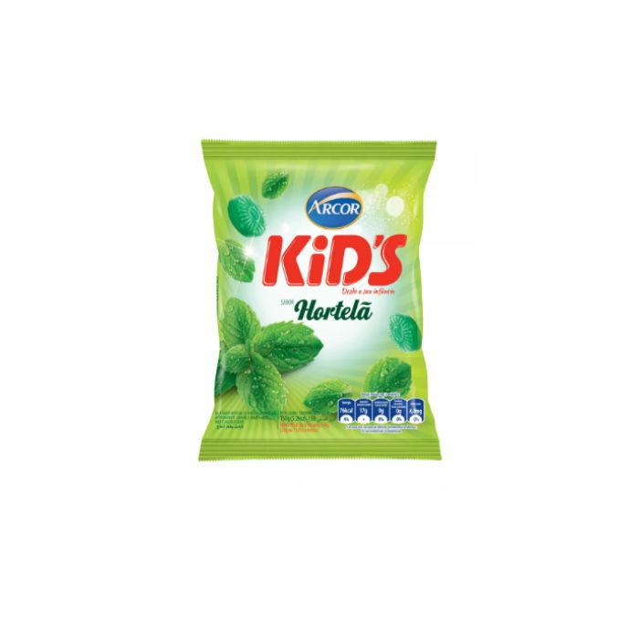 Bala de Hortelã Kids Arcor 600g
