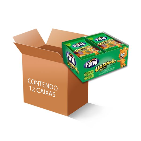 Bala Fini Ursinhos Mini contendo 12 caixas