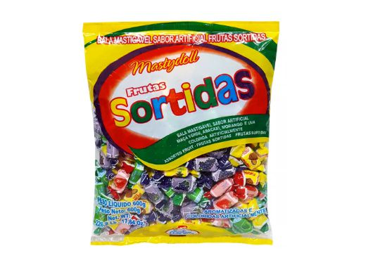 Bala Mastydoll Frutas Sortidas Confirma 400g