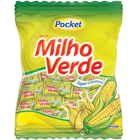 Bala Milho Verde Pocket Riclan 500g